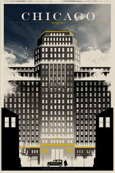 Chicago #vintage #travel #poster #USA