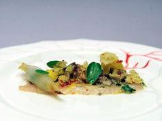 Richard Blais' Crudo of Spanish Mackerel, Braised Veal Shank, Fennel Mostarda