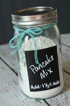 Homemade Pancake Recipe in a Jar - Shake & Pour Pancakes