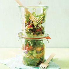 Quinoa-Arugula Layered Salad | Cooking Light #myplate #veggies #fruit