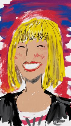 A drawing of @pecklife from our #windowschampions happy hour!  (sketched using Fresh Paint on Windows 8 by Dyna Moe)