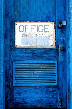 #color #blue #door #sign