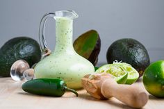 Closet Cooking: Creamy Avocado Dressing (aka Guacamole Buttermilk Dressing)