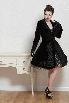 Beautiful gothic velvet frockcoat.