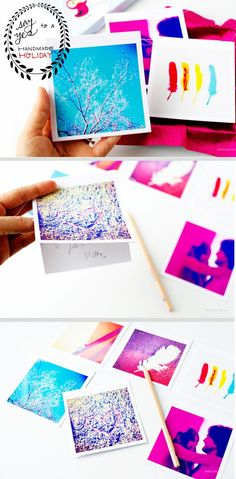 Turn your favorite Instagram shots into pretty cards (a great handmade gift idea).
