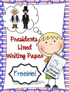 FREE in my TpT store! Primary Lined Journal Writing paper for students to write a story about George Washing and Abraham Lincoln. A preview of my American Symbols Unit which covers many, many more topics. Check it out! :)