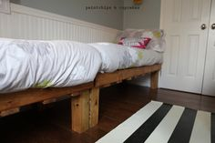 my husband made the pallet beds