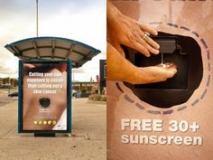 Outdoor sunscreen ad in Perth, Australia. Perfect for the tropics. ;-)