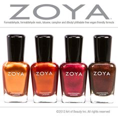 Embrace the Colors of Autumn with Zoya Nail Polish...