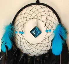 Thin Blue Line Dream Catcher by WebOfDreamzByLynn on Etsy, $35.00