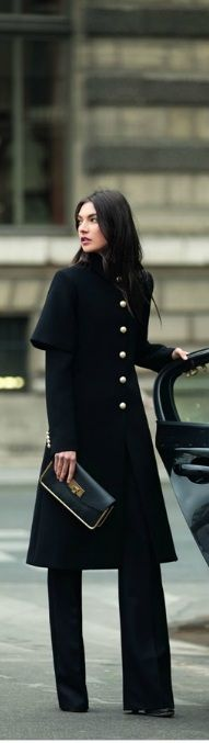 Chanel Long Black coat
