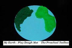 Play Dough Earth Mat