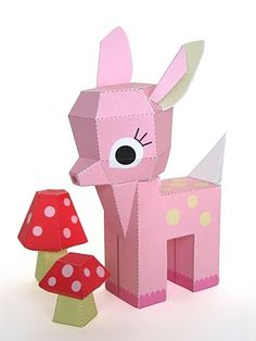 Very cute - Free printable paper toys.