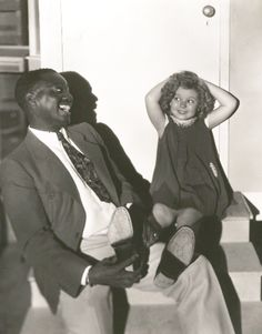 Bill 'Bojangles' Robinson and Shirley Temple, 1935.