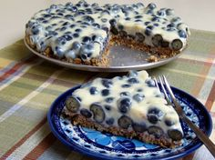 Blueberries & Cream Tart -- SOO AMAZING.