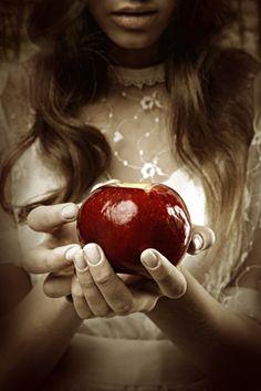 Take a bite, Snow White... fairi tale, appl