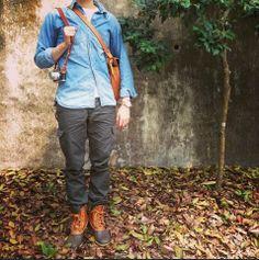 #LLBean Bean Boots and denim shirt