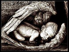 angel wings, angel tombstones