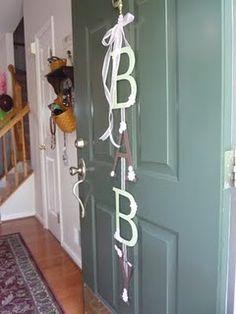Baby shower door decor