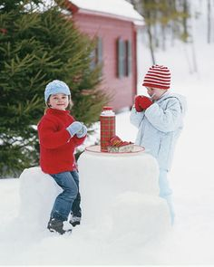 fun twist on snow play...
