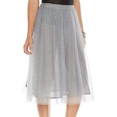 LC Lauren Conrad Tulle Midi Skirt - Women's #Kohls
