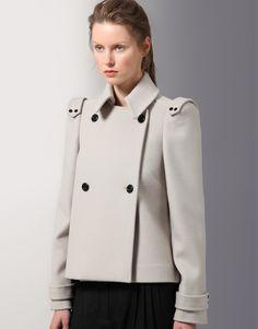 Jaeger London Tab Epaulette Detail Wool Jacket