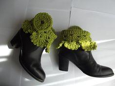 crochet boot cuffs, la luna, custom order, crochet lace, crochet cloth, boots