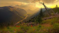 Above A Valley mountains, washington state, sunsets, national parks, beauti, nature photography, beauty, places, river