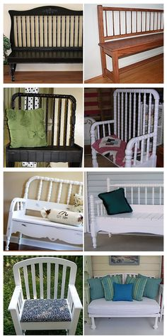 old cribs, recycle cribs, into bench crib, repurposed cribs, old stuff into crafts, old crib repurpose, crib bench, repurpos crib, baby cribs