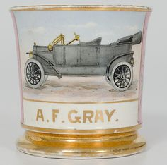 Early Automobile Shaving Mug - Cowan's Auctions