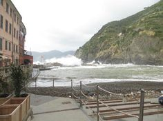 Breakwater Vernazza Italy
