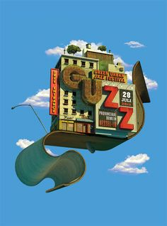 Green Urban Jazz Festival by Kevin Devroo, via Behance