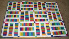 No free pattern, but can figure out and use strip sets or scraps