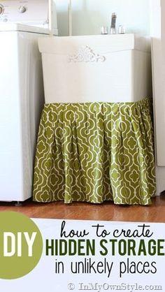 Hidden Storage | via @Diane Haan Lohmeyer Henkler {InMyOwnStyle.com}