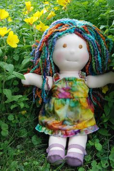 Sophina Faith- a 16 inch Waldorf Style doll  $120.00 from naturalwhimsystudio