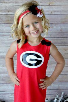 Girls GA Georgia Bulldogs Dress Shirt Size 2T by SweetDesignsBtque, $18.95