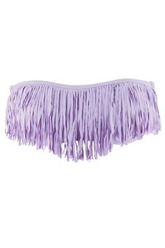 Wow the getaway crowd (and everyone else). L*Space sexy chic fringe bandeau, now in lavender.