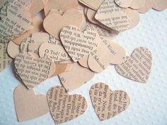 vintage german heart confetti #wedding #party