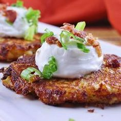 Loaded Mashed Potato Cakes with Bacon