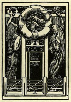 Bookplate of W B Yeats, Irish poet and playwright