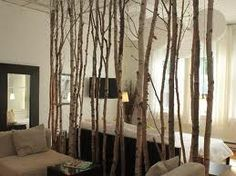 Birch branches room divider