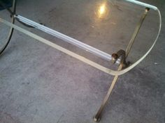 Vintage  Lucite and Brass Table $495