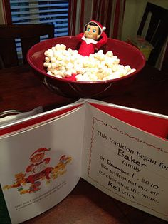 """More Elf on a Shelf Ideas!  I gotta find an elf for my classroom.  He will keep my preschoolers motivated to have good behavior the entire holiday season if they know he will be """"reporting"""" back to Santa before Christmas Eve!"""