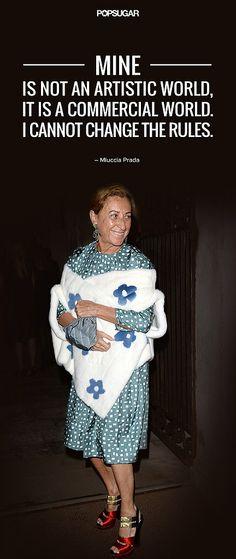 Miuccia Prada on the rules of fashion