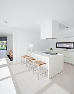 White modern kitchen interior