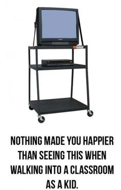 Made my day as a kid...movie time in the classroom!!