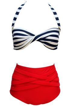 high wasted swim suit