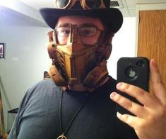 Steampunk gas mask out of an optimus prime mask