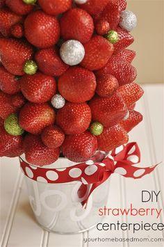 DIY Strawberry Centerpiece