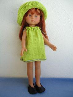Tuto de la robe verte pour poupée chéries de corolle